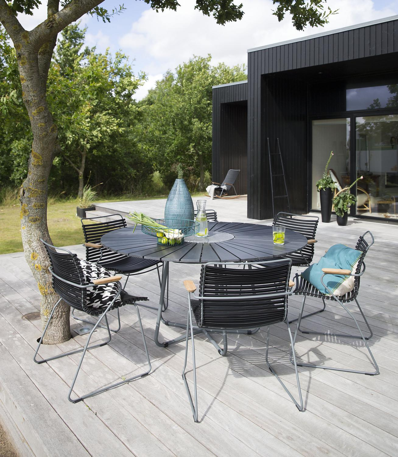 Tuinset Click Dining Chair Houe zwart
