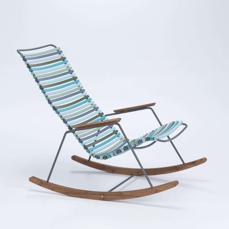 Houe Click Rocking Chair, schommelstoel Blauw Groen kleur