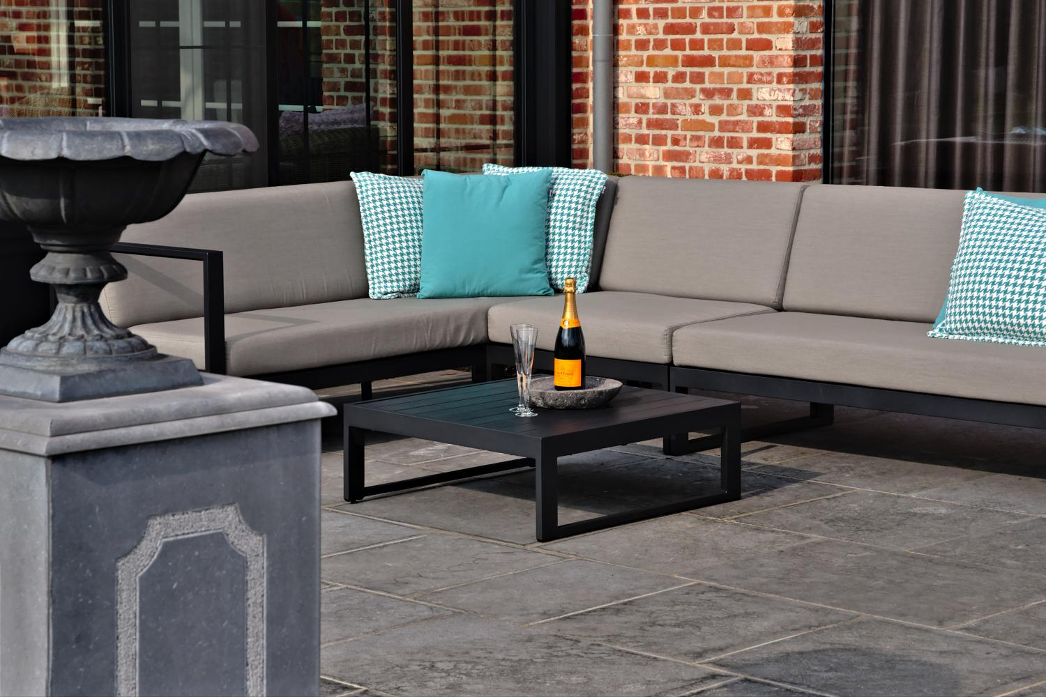 Outdoor Lounge modulair antraciet Taupe Diphano