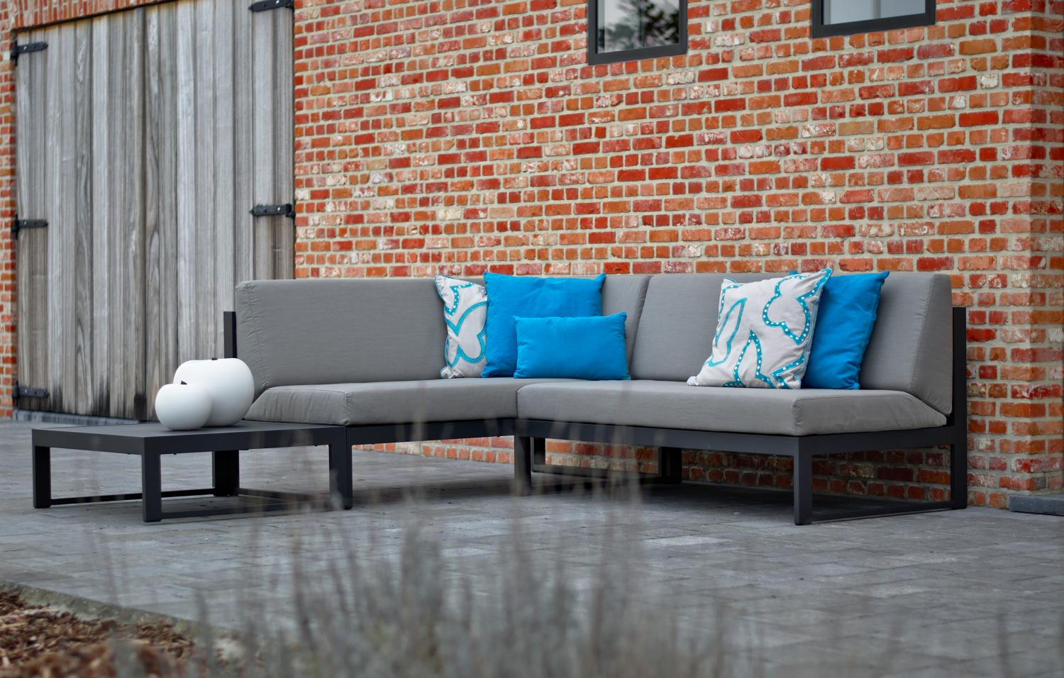 Outdoor Lounge modulair antraciet Diphano