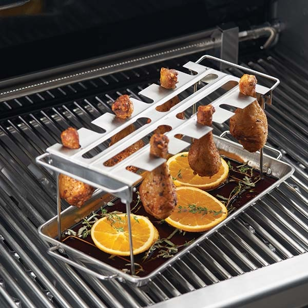 Kippenboutenrek barbecue Kip op de barbecue, Kippenboutje op de bbq