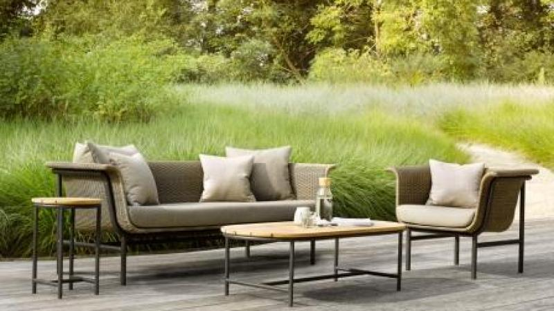 VINCENT SHEPPARD OUTDOOR LOUNGE WICKED ALUMINIUM WICKER NATURELKLEUR