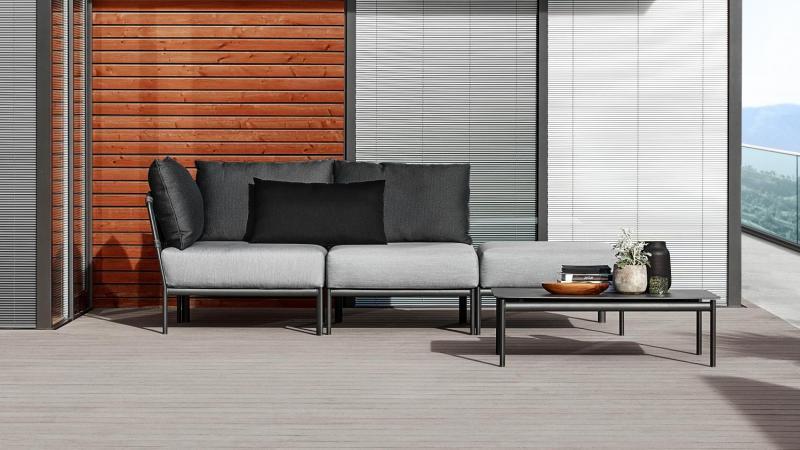 Outdoor lounge antraciet zwart