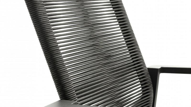 Rope aluminium tuinstoelen, stapelstoelen