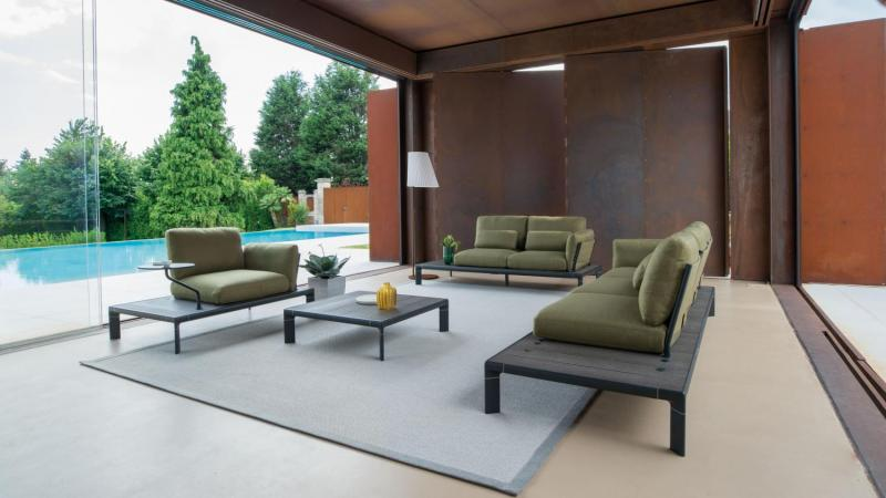 Outdoor lounge zwart aluminium trendkleur outdoor lounge