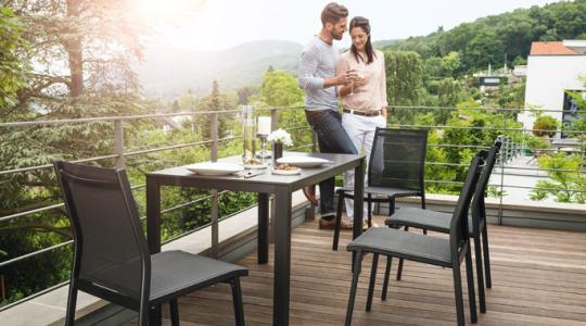 Tuinmeubelen Balkon Stapelstoelen Kettler