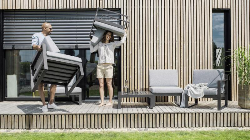 Kettler, outdoorlounge moduleerbaar buitensalon