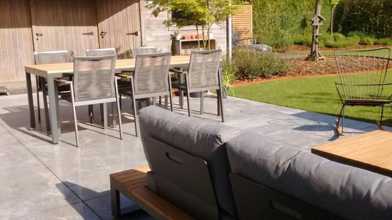 Tuinset aluminium stapelstoelen