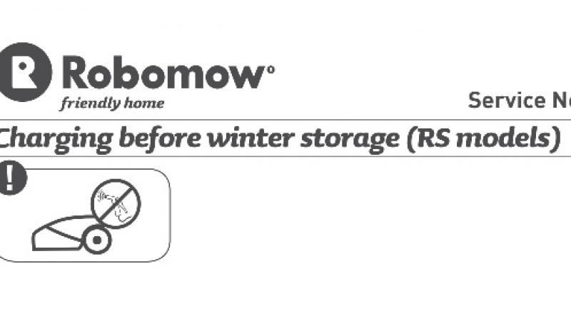 Overwinteren Robomow RS Service Bulletin