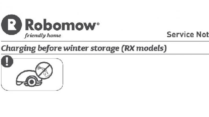 Overwinteren Robomow RX