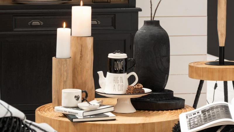 Tuinrama_Jolipa_kandelaar hout_trend hout en zwart