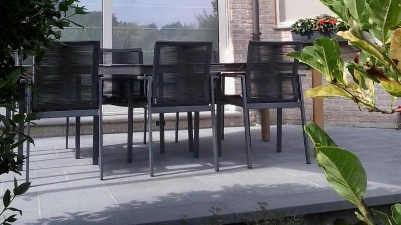 Tuinset stapelstoelen aluminium rope