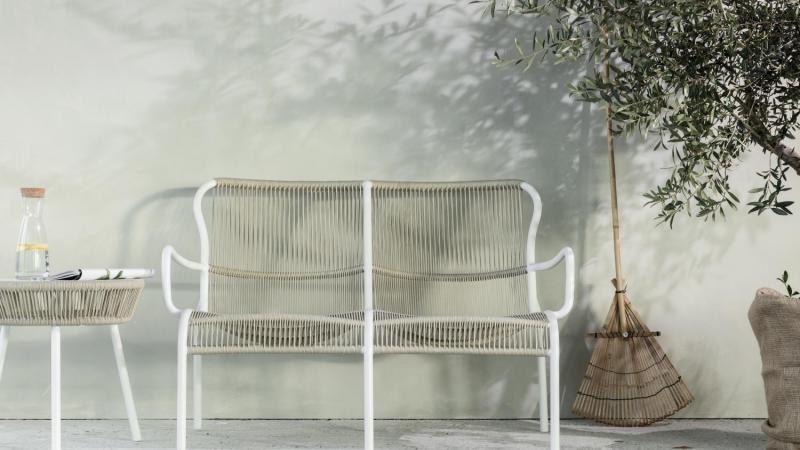 Vincent Sheppard buiten sofa Loop beige stone white