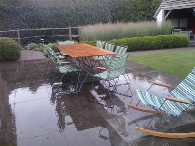 Tuinset Sketch Table Click Armchair green en MultiColor Click Rocking Chair