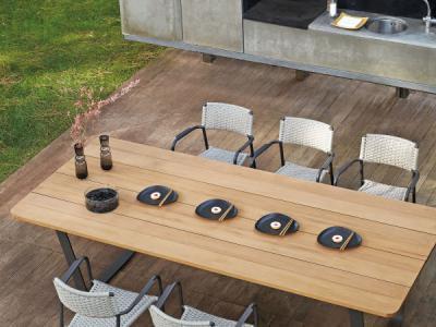 TUinrama_Dining Set Tafel 3m met iroko_Echo Chair