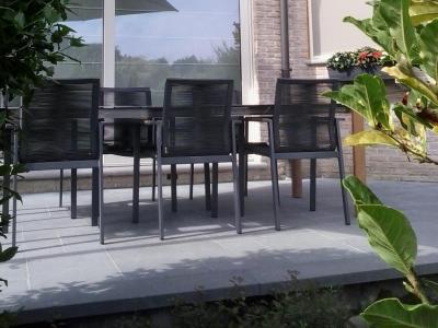 Tuinset Ramo 6 tuinstoelen tuintafel 220x100 keramiek blad