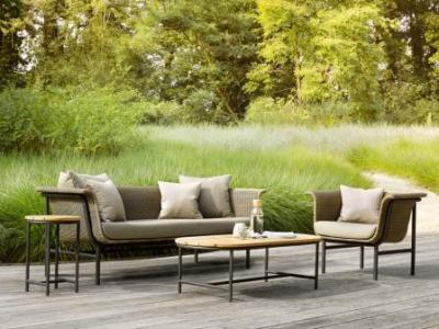 Outdoor Lounge Wicker Aluminium, Vincent Sheppard