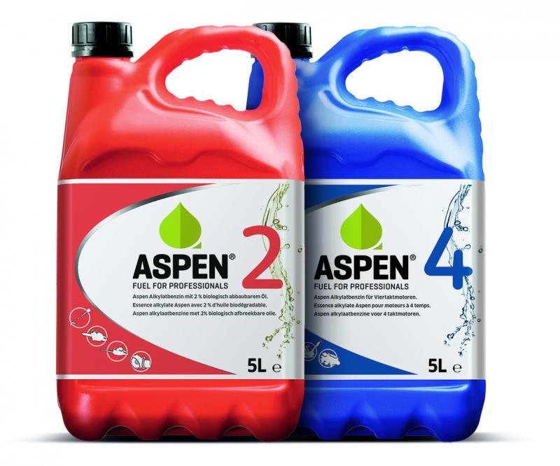 Aspen, beste brandstof voor tuinmachines, grasmaaiers