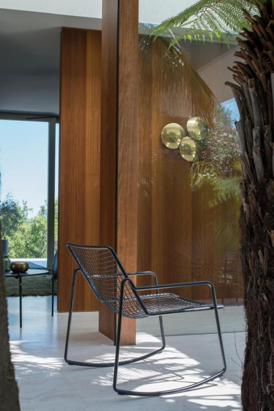 Schommelstoel tuinstoel zwart RIO R50 EMU designmeubelen