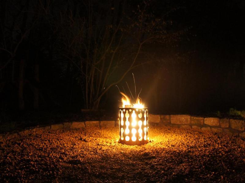 Vuurkorf in Cortenstaal