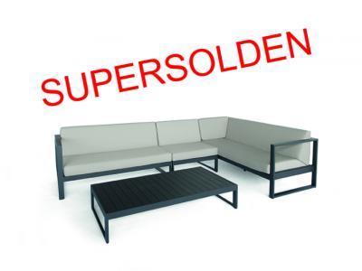 Outdoor Lounge aluminium antraciet weerbestendige kussens