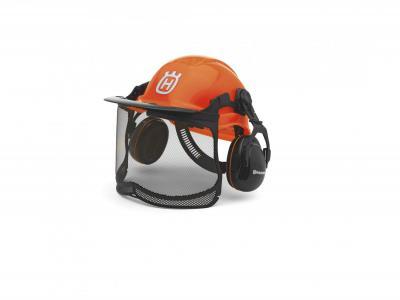 Helm met vizier en oorbescherming