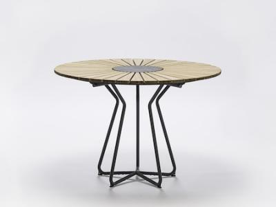Ronde Tuintafel Hout Bamboe Circle Natuursteen Houe