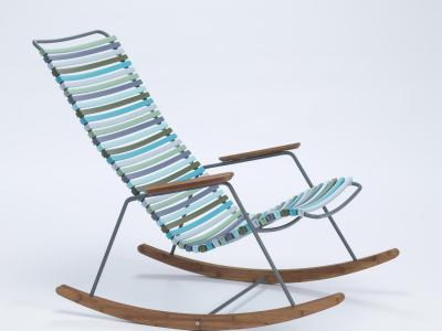 Schommelstoel Bamboe Blauw, Houe, Click Rocking chair