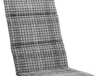 Kussen verstelbare stoel grijs ruit