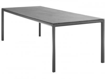 Tuintafel 240x100 cm aluminium met keramiek tafelblad