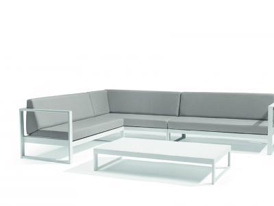 Lounge outdoor aluminium modulair lava antraciet Diphano