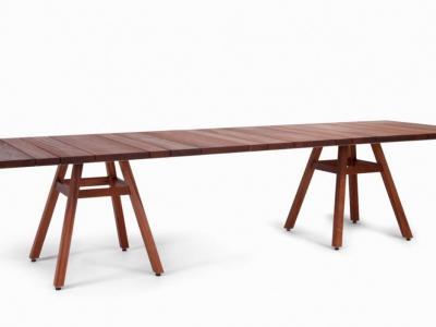 Houten tafel padoek 280cm