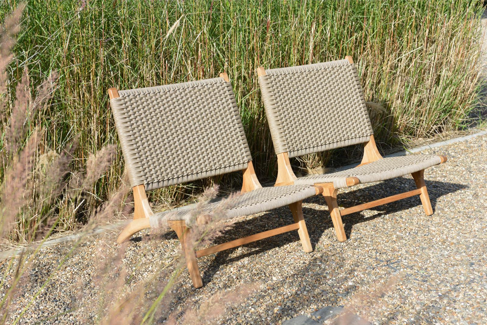 Lounge stoel Rope en teak Verdasio Borek
