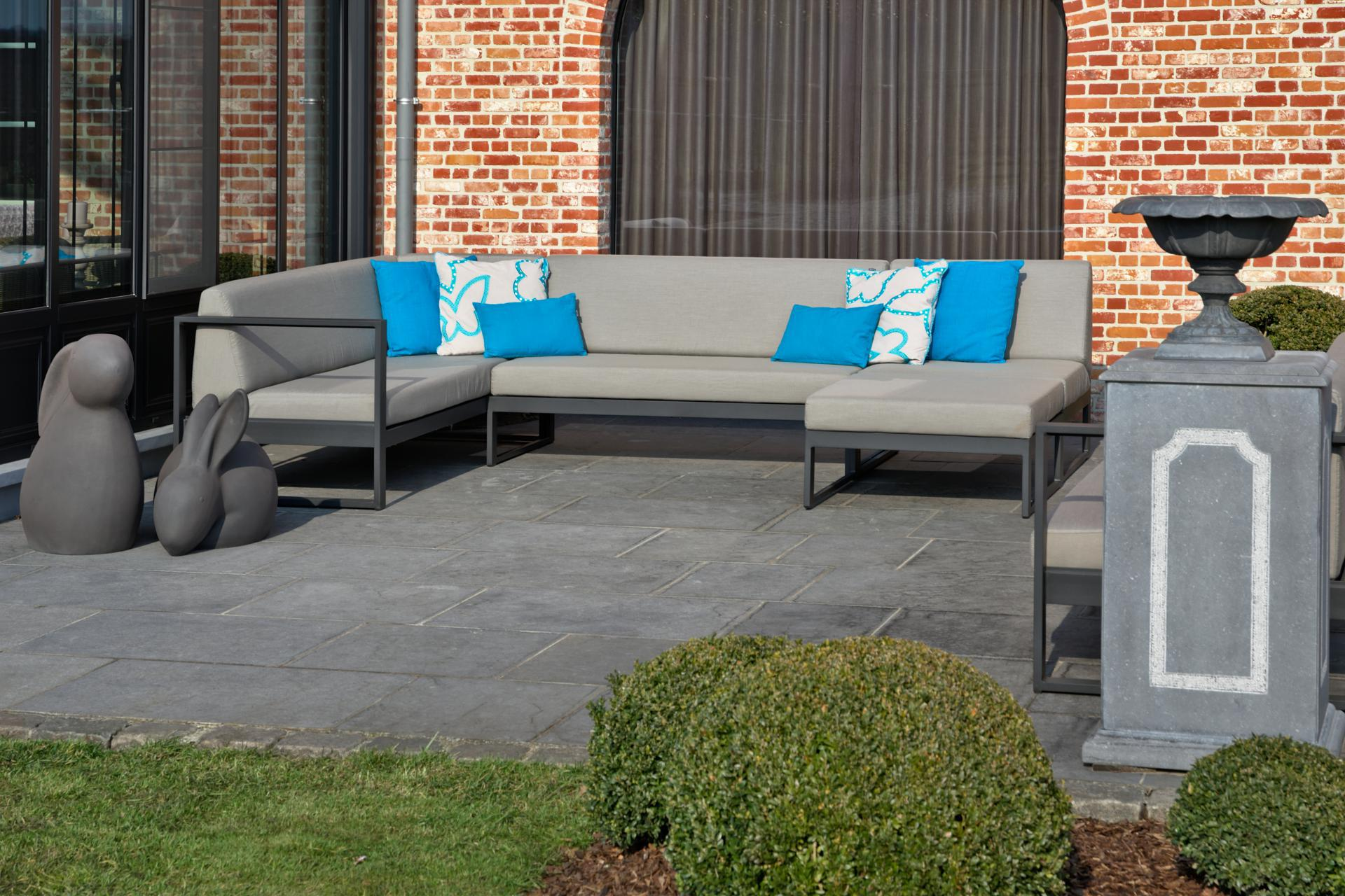 Outdoor Lounge antraciet modulair