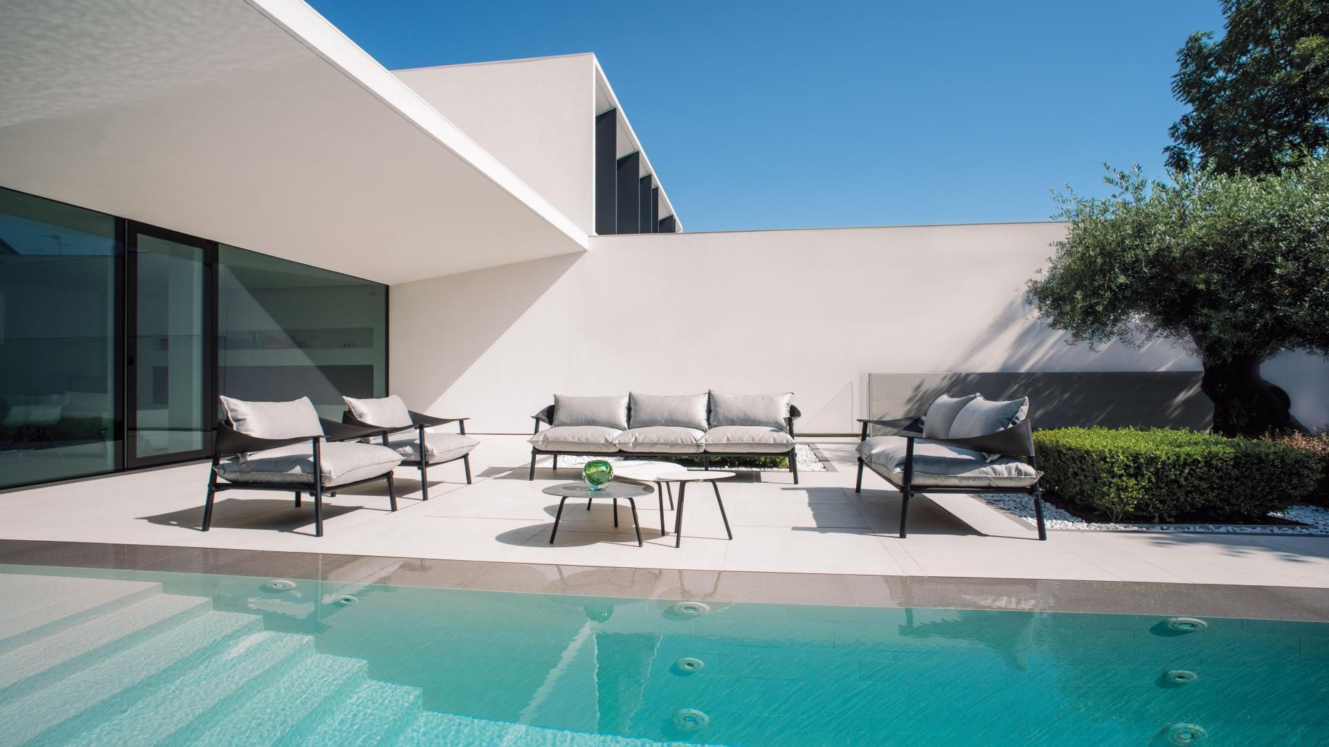 Outdoor lounge aluminium Terramare 2-zit buitensalon 3-zit - antraciet - Emu