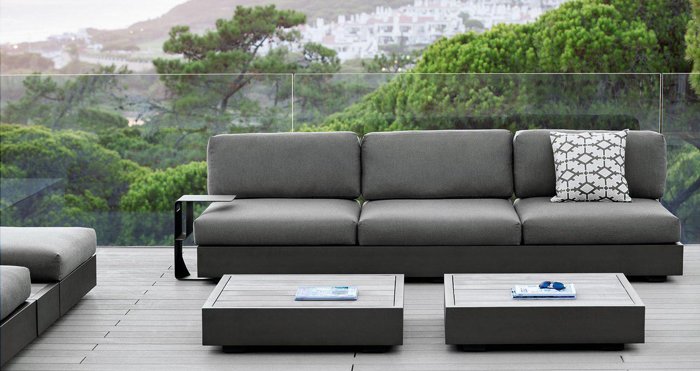 Loungeset aluminium antraciet Jati&Kebon