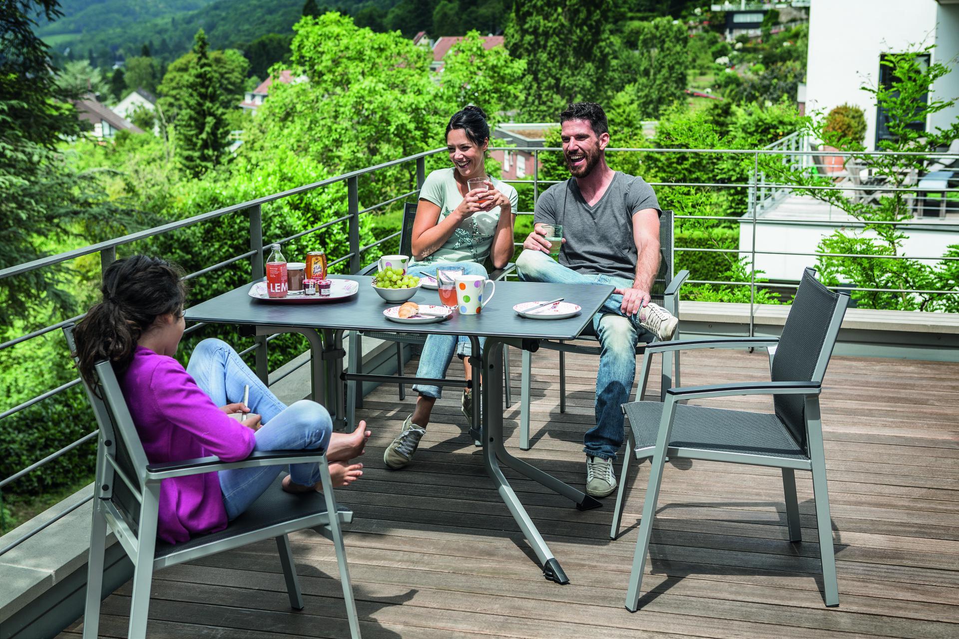 Balkonset klaptafel stapelstoel Lille Kettler