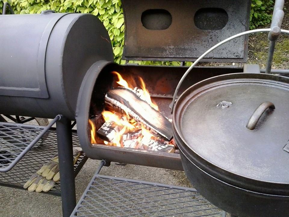 Oklahoma Barbecue op hout